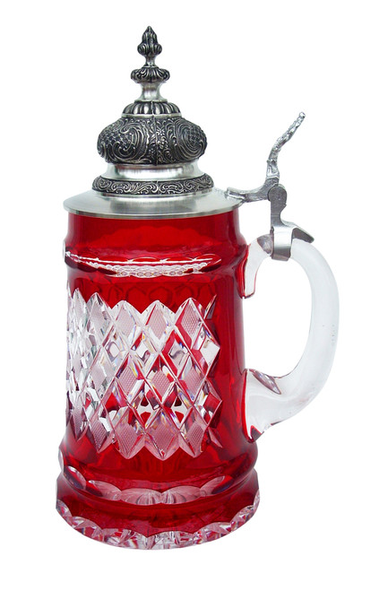 Lord of Crystal Beer Stein Red