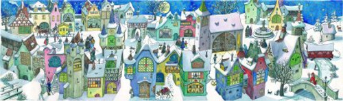 Moonlight Village 1954 Reproduction German Advent Calendar