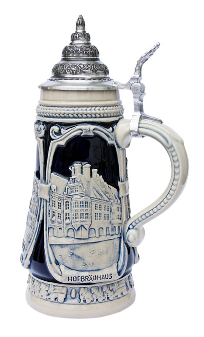 Hofbrauhaus relief on limited edition German beer stein