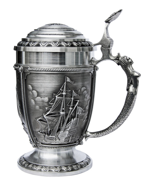 Nautical La Paloma Pewter Beer Stein