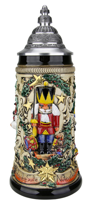 Nutcracker Suite Christmas Beer Stein Rustic