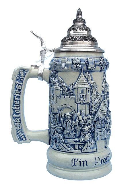 Authentic German Cobalt Stein for Oktoberfest