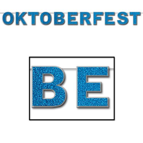 Oktoberfest Glittered Party Banner