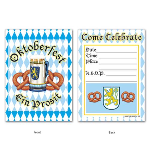 Oktoberfest Party Invitations 8 pack