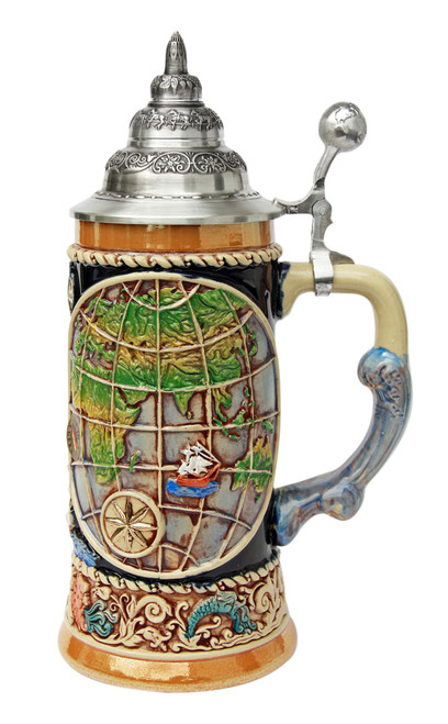 Old World Globe Four Elements Beer Stein