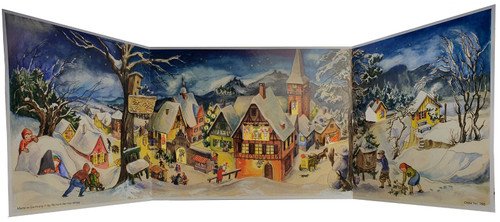 Panoramic Village German Advent Calendar