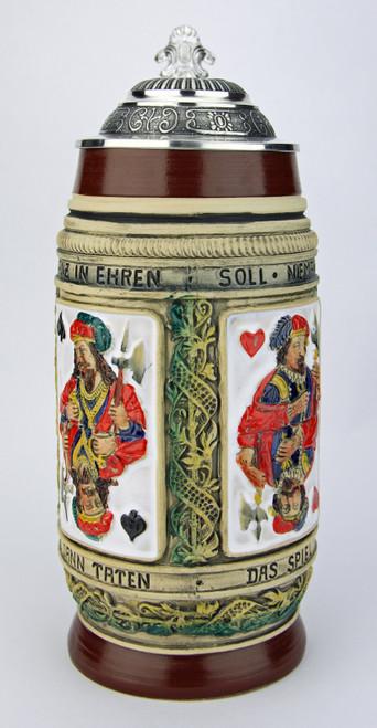 Peter Duemler Card Players Beer Stein