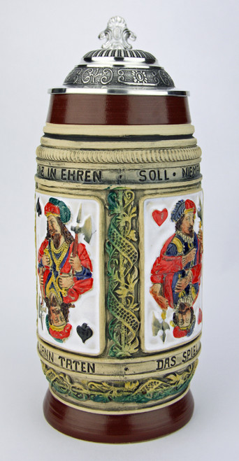 Peter Duemler Card Players Beer Stein