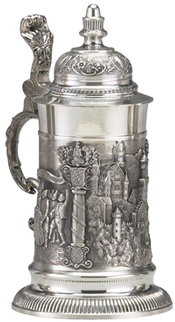 Pewter Neuschwanstein Castle Beer Stein