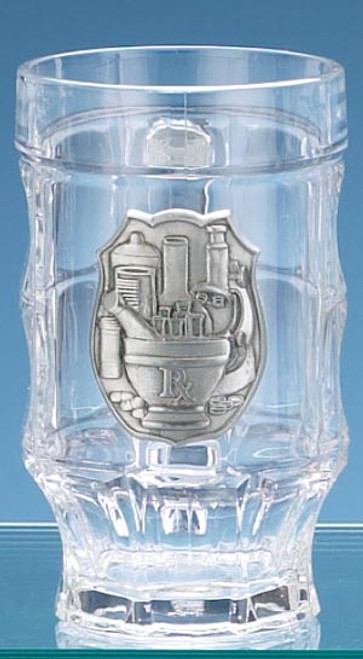 Personalized Pharmacist Glass Facet German Beer Mug