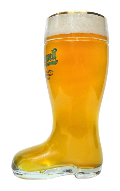 Pilsner Urquell Glass Beer Boot 1 Liter