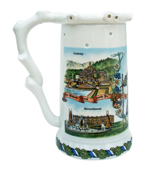 Puzzle Beer Stein with the Castles of King Ludwig