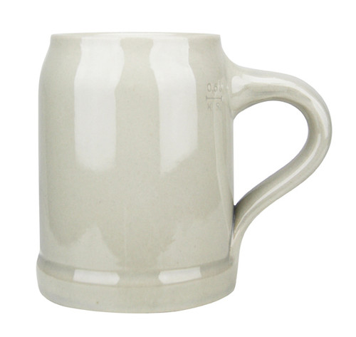 Authentic Bavarian Grey Beer Mug, .5L/17 oz.
