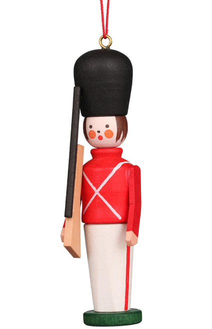 "Toy Soldier Wooden German Ornament, 3.5"" Tall"