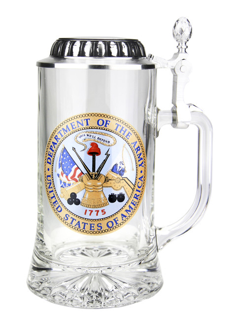 U.S. Army Glass Beer Stein