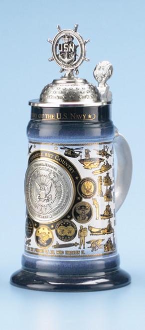U.S. Navy History Beer Stein