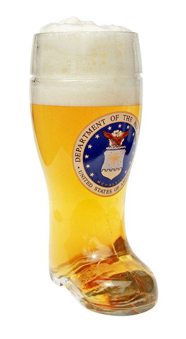 Traditional 1 Liter Beer Boot with USAF Seal
