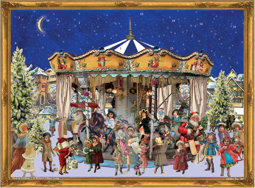 Victorian Merry Go Round Scene German Advent Calendar