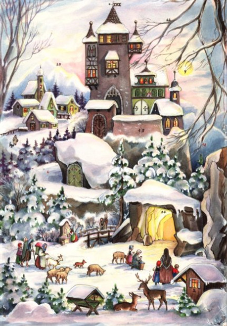 Winter Castle German Advent Calendar