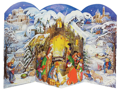3D Nativity Scene German Advent Calendar