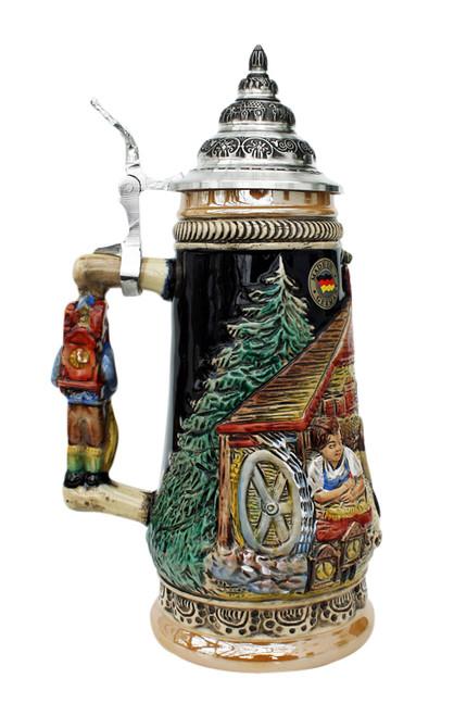Cuckoo Clock Peddler Beer Stein