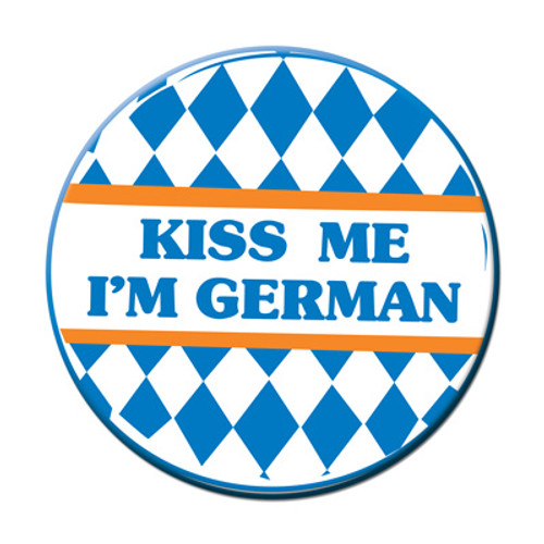 Kiss Me Im German Party Button