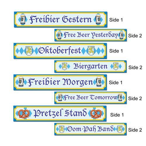 Oktoberfest Signs Paper Cutout 4Pack