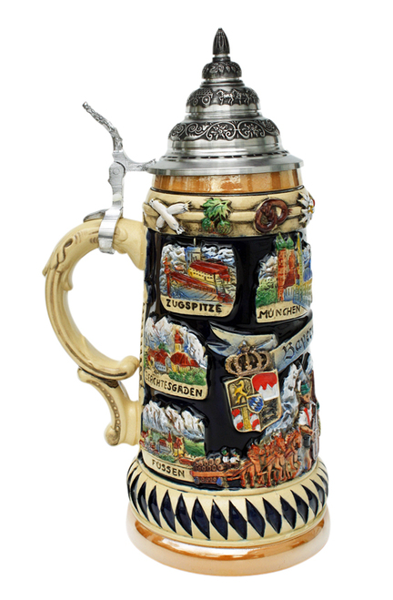 Munich Oktoberfest Beer Stein Souvenir Side View