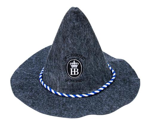 Oktoberfest Hofbrauhaus Felt Party Hat Gray