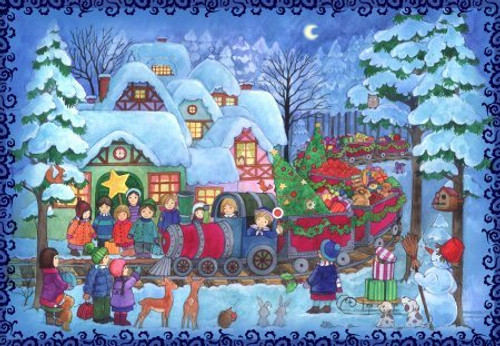 Christmas Train Scene Children's German Advent Calendar