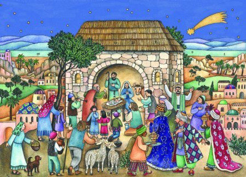 Christmas Nativity German Advent Calendar
