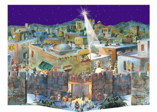 3D Bethlehem German Advent Calendar