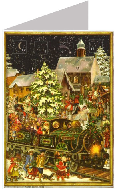 Victorian Train Christmas Card