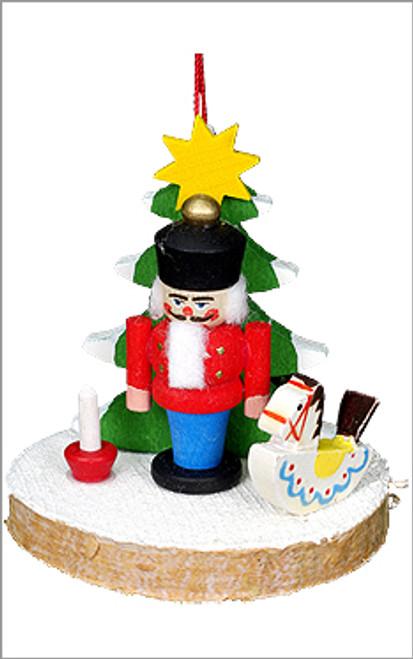 Nutcracker Christmas Tree Wooden German Ornament