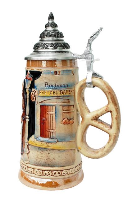 Pretzel Bakery Beer Stein with Pretzel Handle
