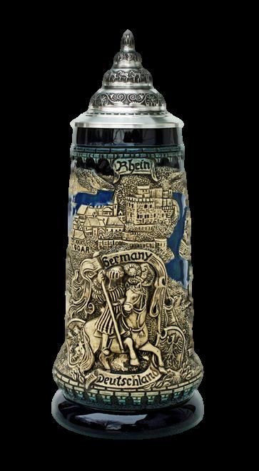 Rhein River Panorama Beer Stein Cobalt