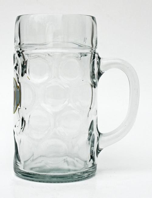 Glass Paulaner Dimpled Oktoberfest Beer Mug 1 Liter