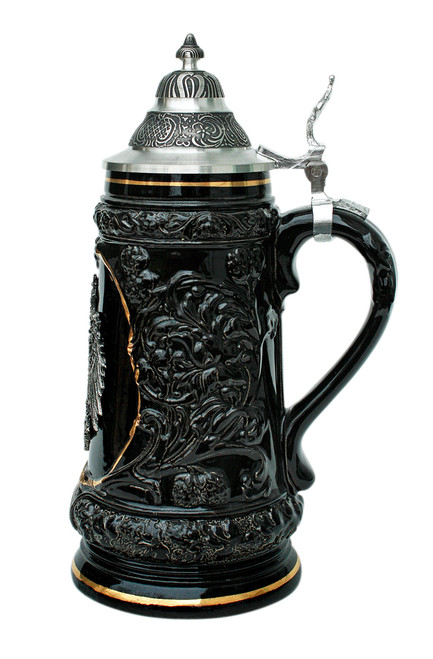 Germany Pewter Eagle Beer Stein
