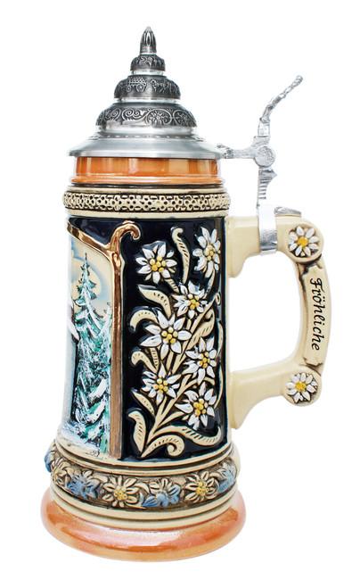 Silent Night Commemorative Christmas Beer Stein
