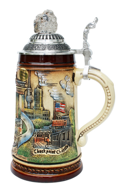 Berlin Wall Checkpoint Charlie Beer Stein