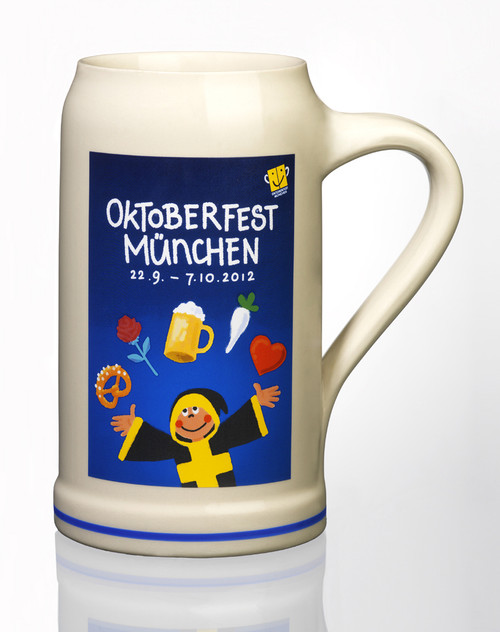 Official 2012 Munich Oktoberfest Stone Beer Mug