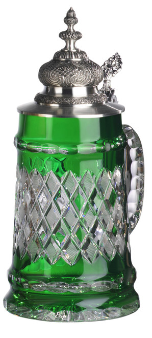 Lord of Crystal Beer Stein Green