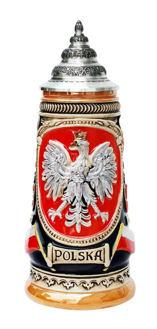 Polska Beer Stein Cobalt