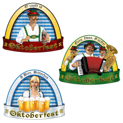 Oktoberfest Cutout Party Decoration 3 pack
