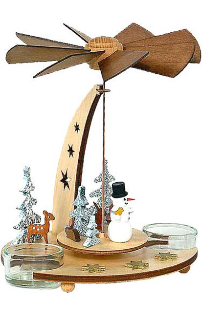 Snowman German Wooden Pyramid