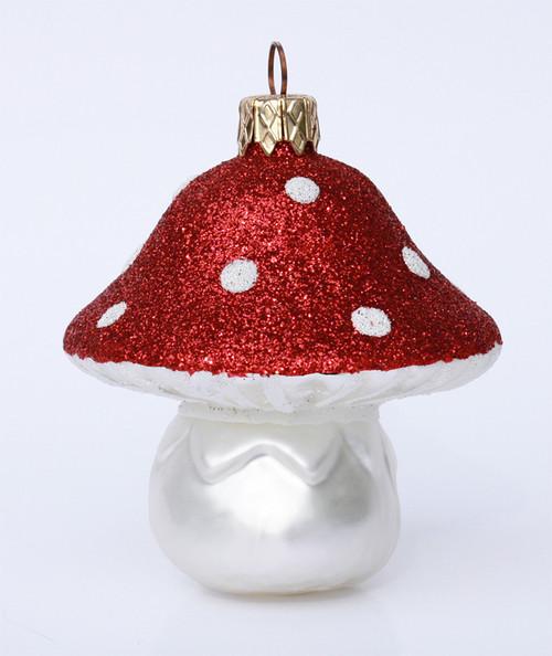 Mushroom Glass German Christmas Ornament