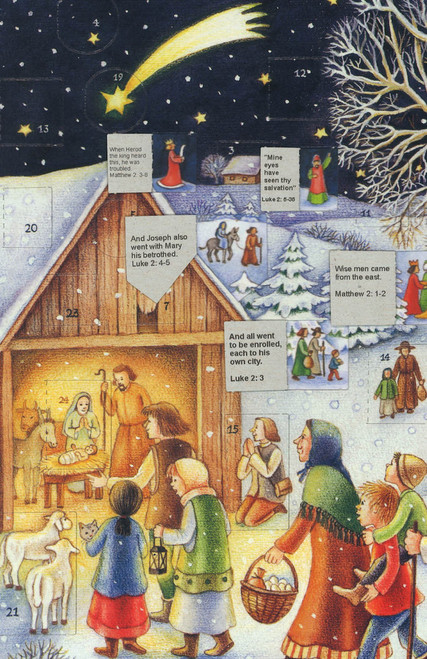 German Winter Nativity Christmas Advent Calendar