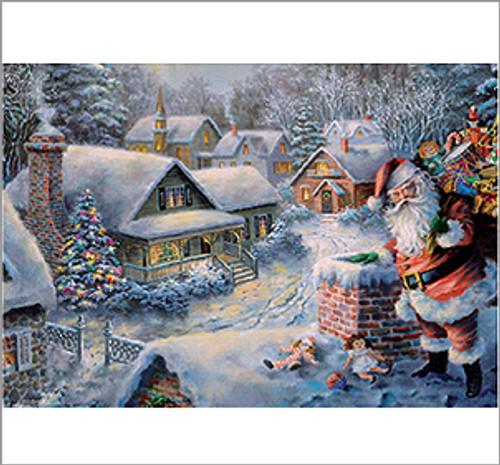 Nostalgic Santa Christmas German Advent Calendar