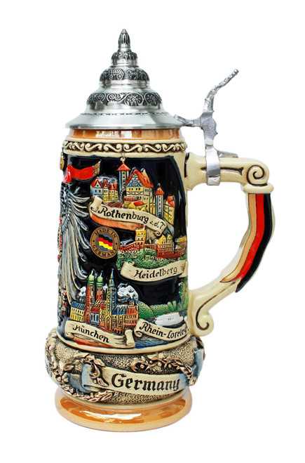 Deutschland Eagle Panorama Beer Stein