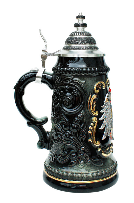 Deutschland Pewter Eagle Beer Stein